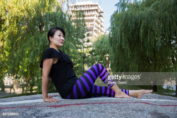 YuMee Chung showcases the Northern Pike a fish pose inspired by Lake Ontario AnneMarie Jackson/Toronto Star