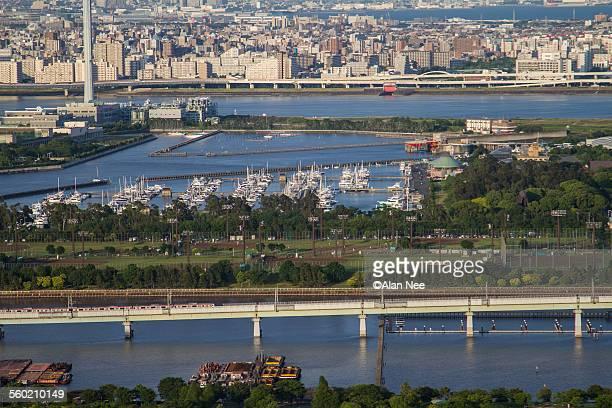 yumenoshima area of tokyo - nee nee stock photos and pictures