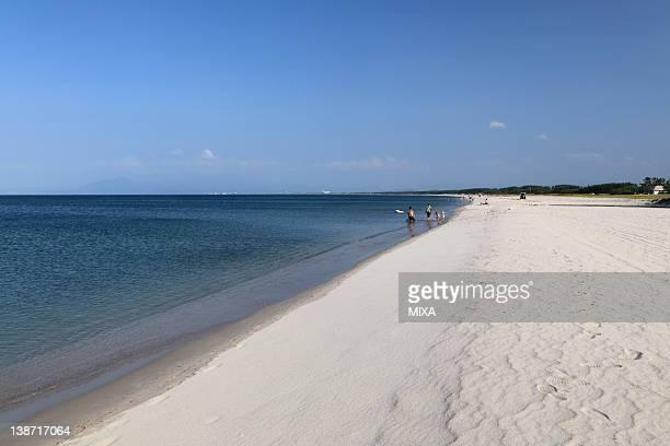 yumigahama beach, yonago, tottori, japan - yonago stock pictures, royalty-free photos & images