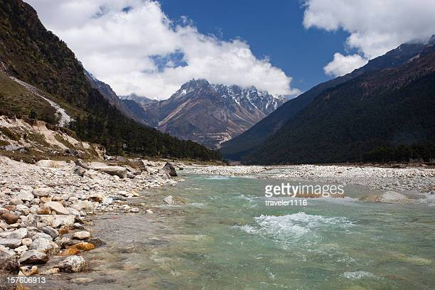 yumthang valley in northern sikkim, india - india china border stock pictures, royalty-free photos & images