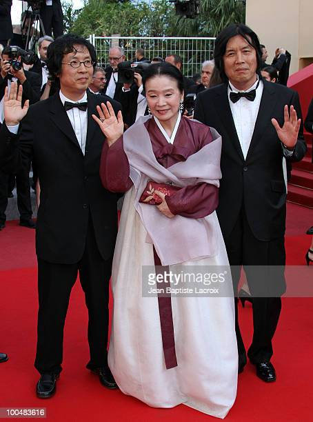 Yun Jung Hee and Changdong Lee attend the Palme d'Or Closing Ceremony held at the Palais des Festivals during the 63rd Annual International Cannes...
