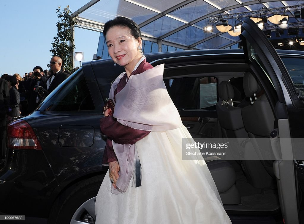 Yun Jung Hee arrives at the Palais du Festivals during the 63rd Annual International Cannes Film Festival on May 23, 2010 in Cannes, France.