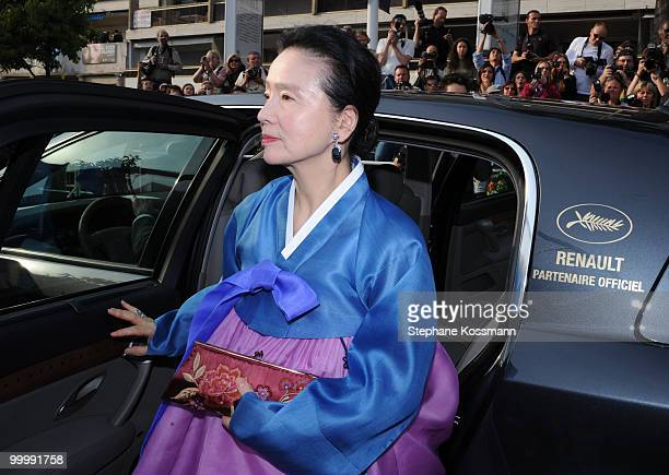 Yun Jung Hee attends the 'Poetry' Premiere at the Palais des Festivals during the 63rd Annual Cannes Film Festival on May 19 2010 in Cannes France