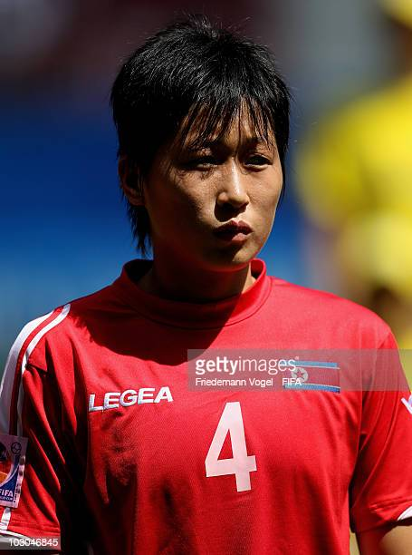 Yun Song Mi of North Korea poses during the FIFA U20 Women's World Cup Group B match between North Korea and Sweden at the FIFA U20 Women's World Cup...