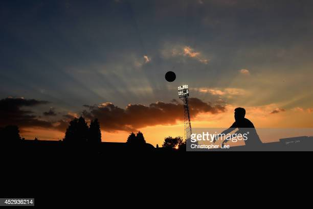 Yun SukYoung of QPR takes a throw in during the PreSeason friendly match between Southend United and Queens Park Rangers at Roots Hall on July 30...
