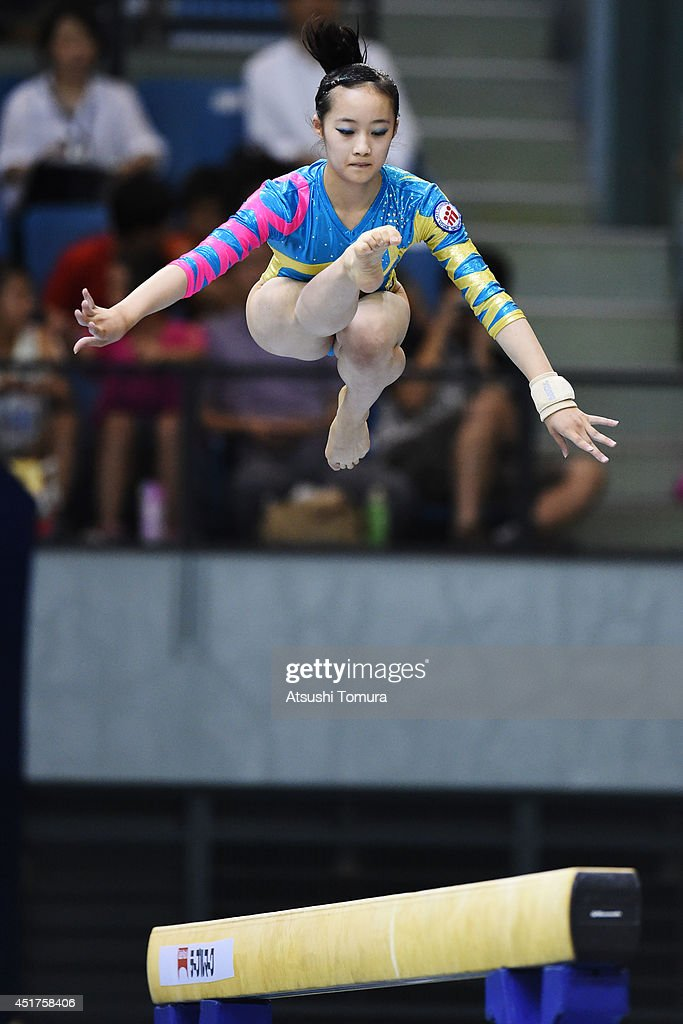 Yuna Hiraiwa of Japan competes in the Balance Beam during the 68th All Japan Gymnastics Apparatus Championships on July 6, 2014 in Chiba, Japan.