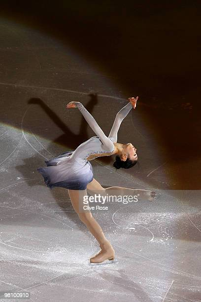 YuNa Kim of Korea participates in the Gala Exhibition during the 2010 ISU World Figure Skating Championships on March 28 2010 at the Palevela in...