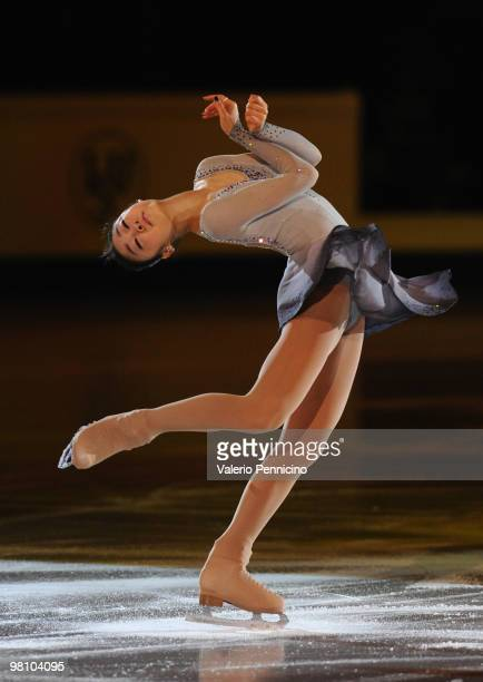 YuNa Kim of Korea participates in the Gala Exhibition during the 2010 ISU World Figure Skating Championships on March 28 2010 in Turin Italy