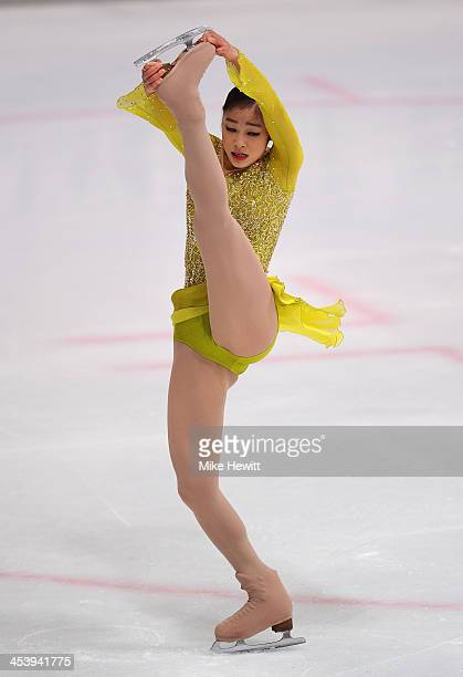 Yuna Kim of Rebublic of Korea in action in the Ladies Short Program during Day Two of the ISU 46th Golden Spin of Zagreb at the Dom Sportova on...