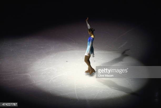 Yuna Kim of South Korea performs during the Figure Skating Exhibition Gala at Iceberg Skating Palace on February 22 2014 in Sochi Russia