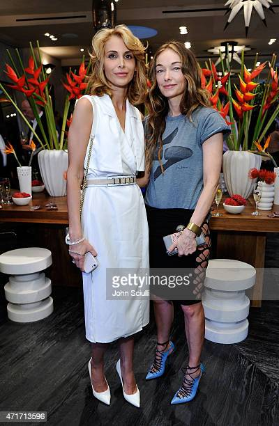 Yuna Megre and Kelly Wearstler celebrate the launch of Regime des Fleurs perfume at Kelly Wearstler Flagship Boutique in Los Angeles with...