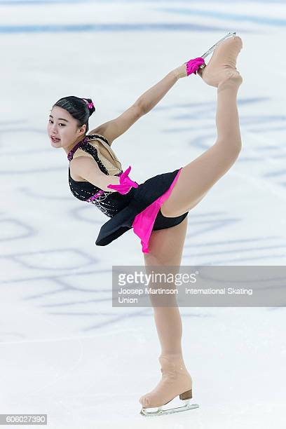 Yuna Shiraiwa of Japan competes during the Junior Ladies Short Program on day two of the ISU Junior Grand Prix of Figure Skating on September 16 2016...