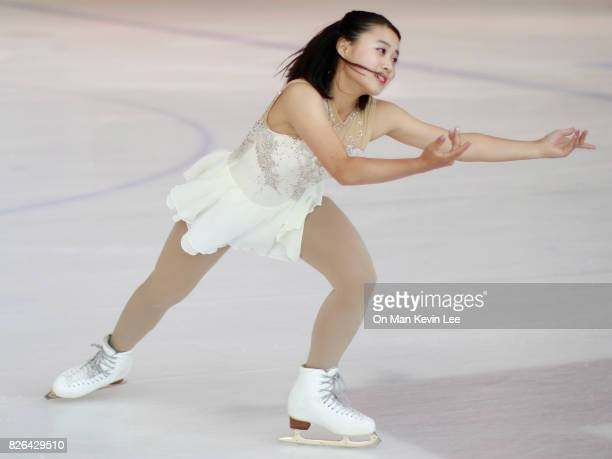Yuna Shiraiwa of Japan competes in Ladies Short Program during the Asian Open Figure Skating Trophy 2017 on August 4 2017 in Hong Kong Hong Kong