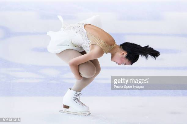 Yuna Shiraiwa of Japan competes in Ladies Short Program during the Asian Open Figure Skating Trophy 2017 on August 04 2017 in Hong Kong Hong Kong