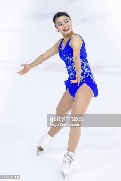 Yuna Shiraiwa of Japan competes in Senior Ladies group during the Asian Open Figure Skating Trophy 2017 on August 05 2017 in Hong Kong Hong Kong