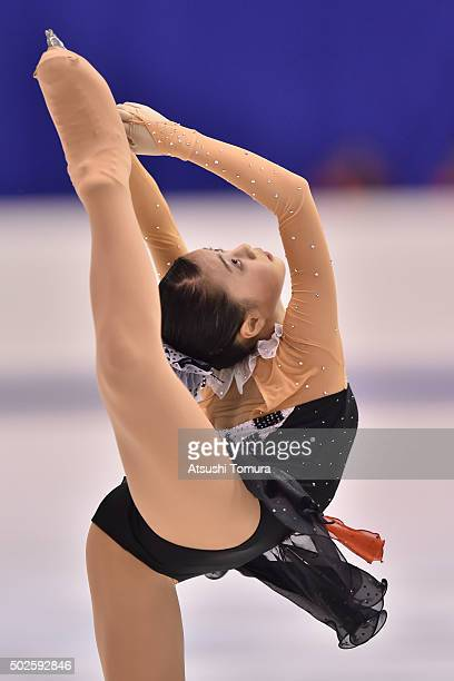 Yuna Shiraiwa of Japan competes in the Ladies free skating during the day three of the 2015 Japan Figure Skating Championships at the Makomanai Ice...