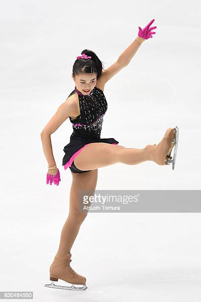 Yuna Shiraiwa of Japan competes in the Ladies short program during the Japan Figure Skating Championships 2016 on December 24 2016 in Kadoma Japan