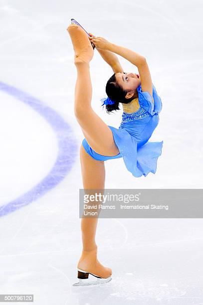 Yuna Shiraiwa of Japan performs during the Junior Ladies short program final during day one of the ISU Grand Prix of Figure Skating Final 2015/2016...