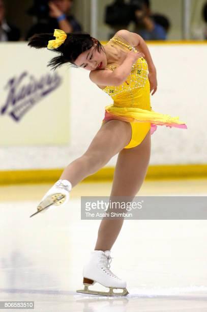 Yuna Shiraiwa performs during the Kansai University Ice Show on July 2 2017 in Takatsuki OsakaJapan