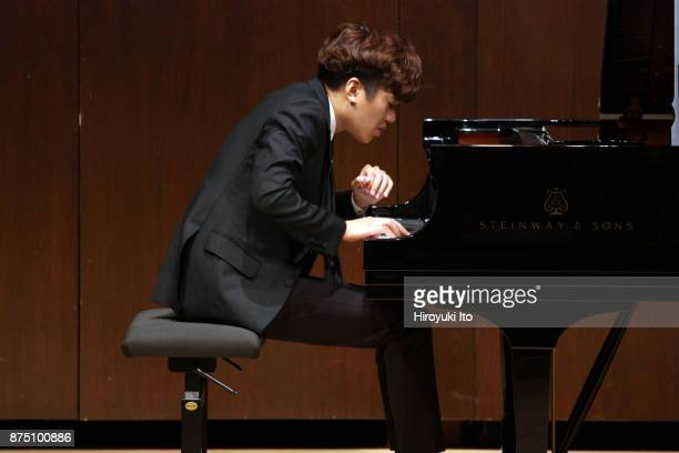 YunChin Zhou the winner of the 2017 Gina Bachauer Piano Competition performing the music of Liszt at Paul Hall at the Juilliard School on Tuesday...