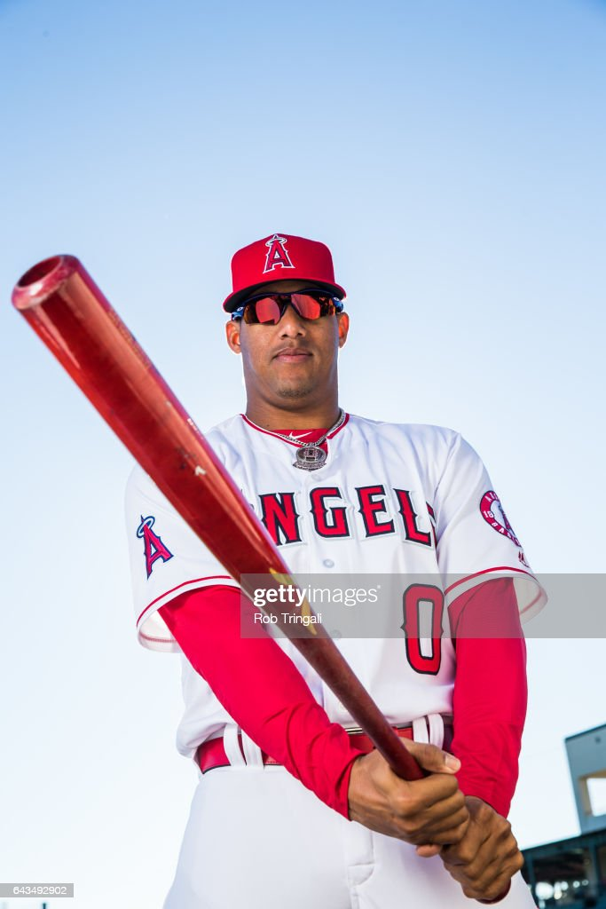 Yunel Escobar of the Los Angeles Angels of Anaheim poses for a portrait during Angels Photo Day at Tempe Diablo Stadium on February 21, 2017 in Tempe, Arizona.