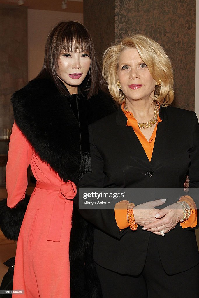 Yung Hee Kim and Francine LeFrak attend the Ethical Shopping Event hosted by Reem Acra at Reem Acra on December 19, 2013 in New York City.