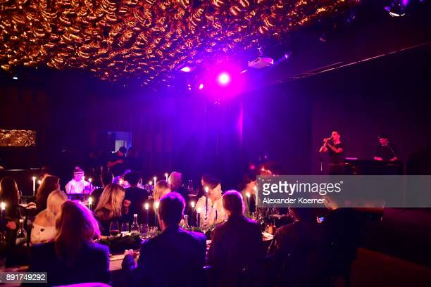Yung Hurn performs during the Zalando xmas bash hosted by Alek Wek at Haus Ungarn on December 13 2017 in Berlin Germany
