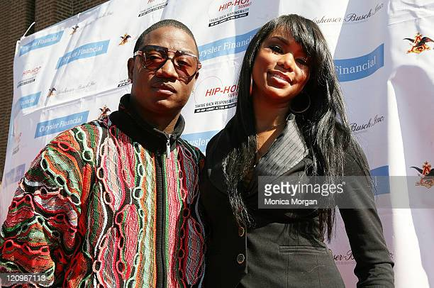 Yung Joc and LeToya Luckett attend the Get Your Money Right Finanial Empowerment Seminar at the Hip Hop Summit sponsored by Chrysler Financial...