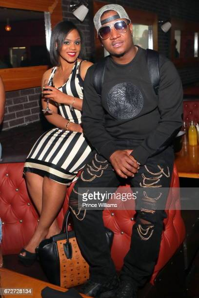 Yung Joc attends Allure Sunday's Hosted By K Michelle at Boogalou Lounge on April 23 2017 in Atlanta Georgia