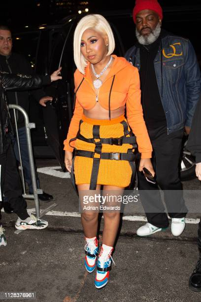 Yung Miami at the Jeremy Scott fashion show on February 8 2019 in New York City