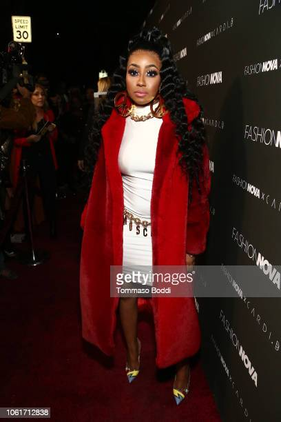 Yung Miami of City Girls attends the Fashion Nova x Cardi B Collaboration Launch Event at Boulevard3 on November 14 2018 in Hollywood California
