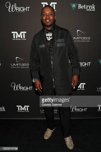 Yung Muusik attends Floyd Mayweather's 43rd Birthday Celebration at Sunset Eden on February 21 2020 in Los Angeles California