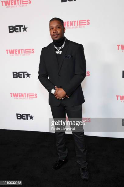Yung Muusik attends the premiere of BET's Twenties at Paramount Studios Stage 17 on March 02 2020 in Los Angeles California