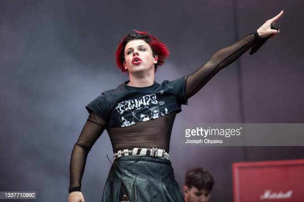 Yungblud performs on Main Stage West during Reading Festival 2021 at Richfield Avenue on August 29, 2021 in Reading, England.