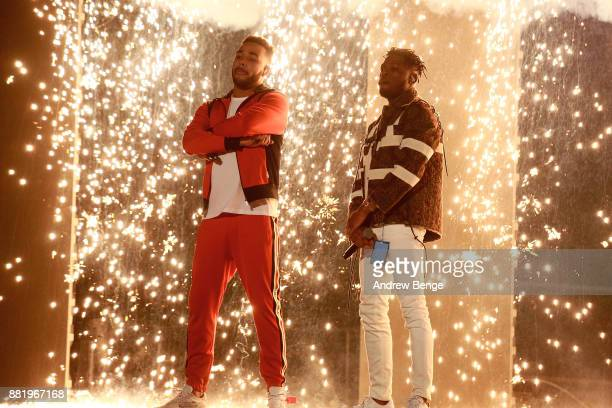 Yungen and Yxng Bane perform on stage at the MOBO Awards at First Direct Arena Leeds on November 29 2017 in Leeds England