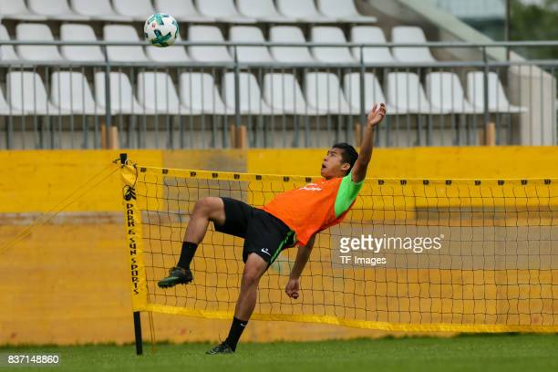 Yuning Zhang of Werder Bremen controls the ball during the Training Camp of SV Werder Bremen on July 13 2017 in Zell am Ziller Austria