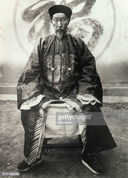 Yunnan a Type of Old Mandarin Sitting in Chair