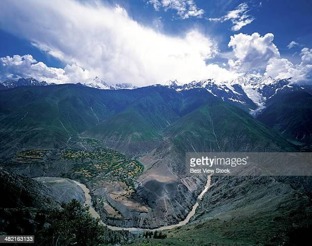 yunnan lancang river valley - provinz yunnan stock-fotos und bilder