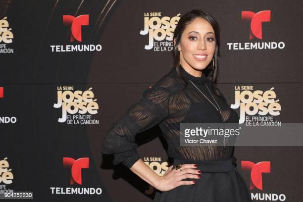 Yunuen Pardo attends the 'Jose Jose El Principe De La Cancion' Telemundo tv series premiere at Four Seasons hotel on January 11 2018 in Mexico City...