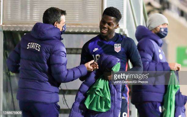 Yunus Musah of the United States during a game between Panama and USMNT at Stadion Wiener Neustadt on November 16, 2020 in Wiener Neustadt, Austria.