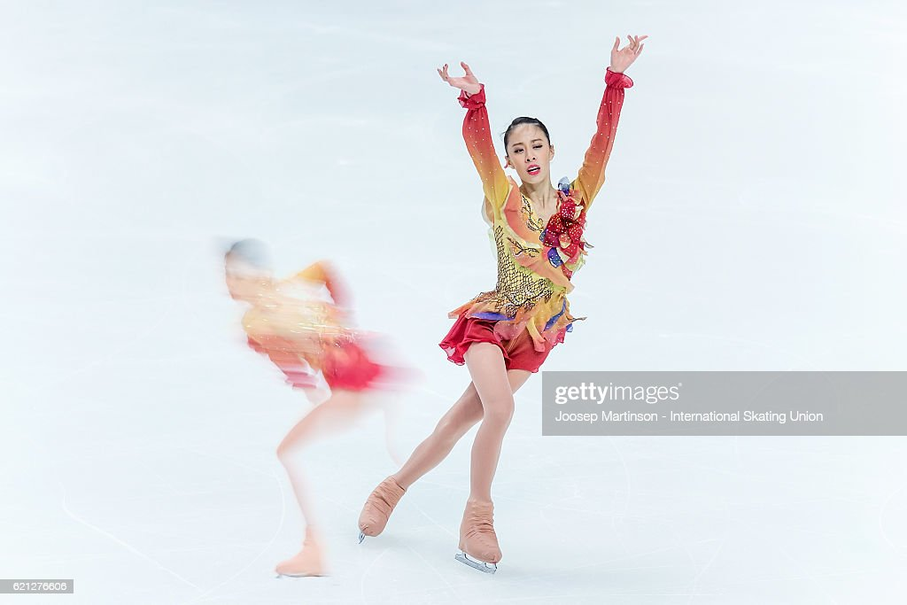 Yura Matsuda of Japan competes during Ladies Free Skating on day two of the Rostelecom Cup ISU Grand Prix of Figure Skating at Megasport Ice Palace on November 5, 2016 in Moscow, Russia.