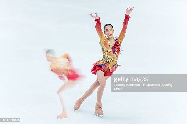 Yura Matsuda of Japan competes during Ladies Free Skating on day two of the Rostelecom Cup ISU Grand Prix of Figure Skating at Megasport Ice Palace...