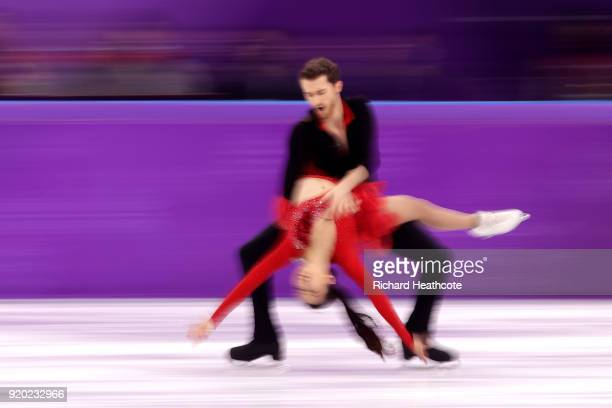 Yura Min and Alexander Gamelin of Korea compete during the Figure Skating Ice Dance Short Dance on day 10 of the PyeongChang 2018 Winter Olympic...