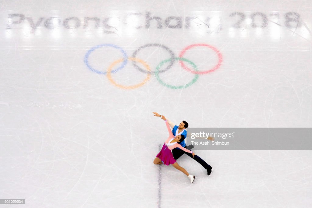 Yura Min and Alexander Gamelin of South Korea compete in the Figure Skating Ice Dance Free Dance on day eleven of the PyeongChang Winter Olympic Games at Gangneung Ice Arena on February 20, 2018 in Gangneung, South Korea.