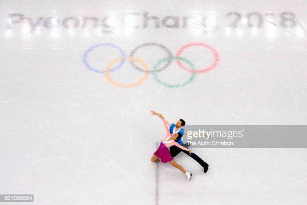 Yura Min and Alexander Gamelin of South Korea compete in the Figure Skating Ice Dance Free Dance on day eleven of the PyeongChang Winter Olympic...
