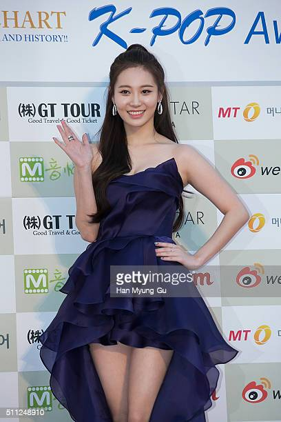 Yura of South Korean girl group Girls Day attends the 5th Gaon Chart K-Pop Awards on February 17, 2016 in Seoul, South Korea.
