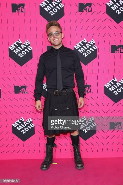 Yurem attends the MTV MIAW Awards 2018 at Arena Ciudad de Mexico on June 2 2018 in Mexico City Mexico