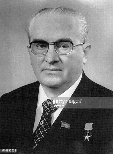 Yuri Andropov wears medals in a portrait after he was elected General Secretary of the Communist Party hence leader of the Soviet Union in 1982