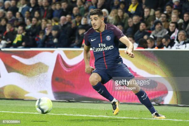 Yuri Berchiche in action during the French Ligue 1 soccer match between Paris Saint Germain and FC Nantes at Parc des Princes
