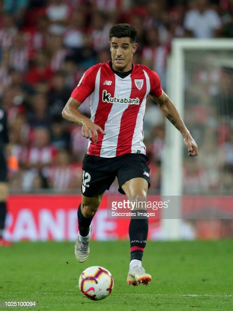 Yuri Berchiche of Athletic Bilbao during the La Liga Santander match between Athletic de Bilbao v SD Huesca at the Estadio San Mames on August 27...